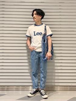 大阪店のサカモトヒロシさんのLeeのAMERICAN STANDARD 201 ストレートジーンズを使ったコーディネート