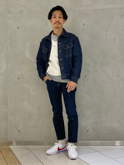 大阪店のサカモトヒロシさんのLeeの101 PROJECT RIDERS JACKETを使ったコーディネート