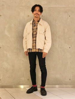 大阪店のサカモトヒロシさんのLeeの【セットアップ対応】チェトパ ジャケットを使ったコーディネート
