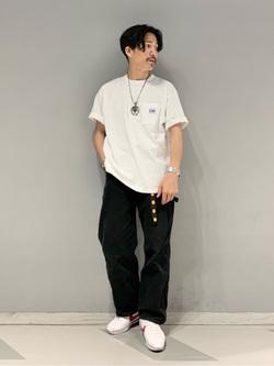 大阪店のサカモトヒロシさんのLeeの【PreSALE】ポケット付き 半袖Tシャツを使ったコーディネート