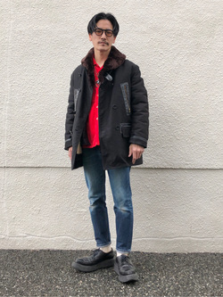 大阪店のサカモトヒロシさんのLeeのAMERICAN RIDERS 203 テーパードを使ったコーディネート