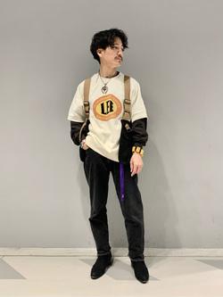 大阪店のサカモトヒロシさんのLeeの半袖スウェットを使ったコーディネート