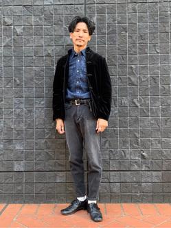 大阪店のサカモトヒロシさんのLeeの【定番】ウエスタン デニムシャツ長袖を使ったコーディネート