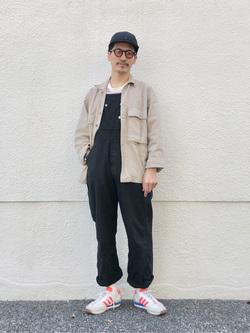 大阪店のサカモトヒロシさんのLeeのマルチボーダー 半袖Tシャツを使ったコーディネート