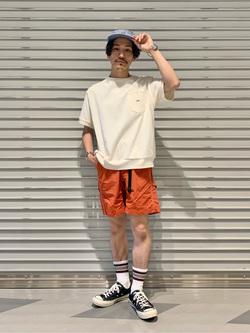 大阪店のサカモトヒロシさんのLeeの【Lee×GRAMICCI(グラミチ)】ペインター ショートパンツを使ったコーディネート