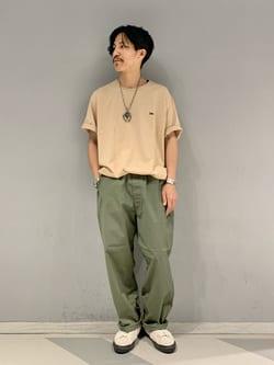 大阪店のサカモトヒロシさんのLeeの【予約】【XSからXXLまでを1サイズでカバーする】FLeeasy イージーパンツ【6月下旬頃発送予定】を使ったコーディネート
