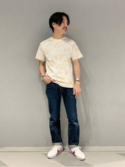 大阪店のサカモトヒロシさんのLeeのタイダイ柄 半袖Tシャツを使ったコーディネート
