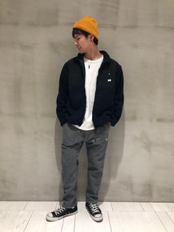 アミュプラザおおいた店のTomonoriさんのLeeの終了【WINTER SALE】フリース ジップジャケットを使ったコーディネート