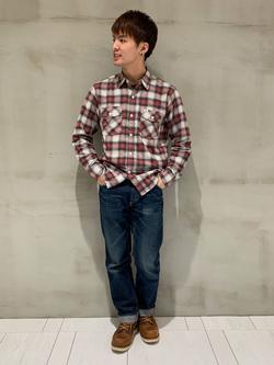 アミュプラザおおいた店のTomonoriさんのLeeの【シークレットセーール!!】ワークシャツ 長袖を使ったコーディネート
