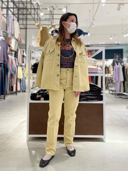 西宮ガーデンズ店のMisakiさんのLeeの【SPRING SALE】【セットアップ対応】シャツジャケットを使ったコーディネート
