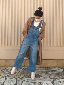 西宮ガーデンズ店のMisakiさんのLeeの【The DENIM】Vintage オーバーオール/サロペットを使ったコーディネート