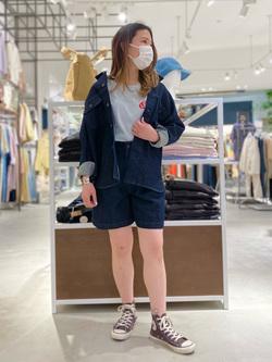 西宮ガーデンズ店のMisakiさんのLeeの【SPRING SALE】【セットアップ対応】ショートパンツを使ったコーディネート