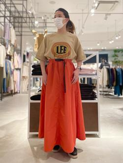 西宮ガーデンズ店のMisakiさんのLeeの半袖スウェットを使ったコーディネート