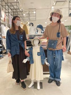 西宮ガーデンズ店のMisakiさんのLeeのバンドカラー デニム/コットン 長袖シャツを使ったコーディネート