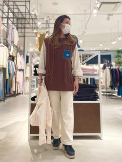 西宮ガーデンズ店のMisakiさんのLeeの【otonaMUSE掲載】【毎日履きたい】ボーイズストレートパンツを使ったコーディネート