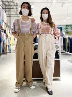 西宮ガーデンズ店のMisakiさんのLeeのマルチボーダー 半袖Tシャツを使ったコーディネート