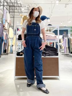西宮ガーデンズ店のMisakiさんのLeeの【竹下玲奈さんモデル】ジャストフィットTシャツを使ったコーディネート