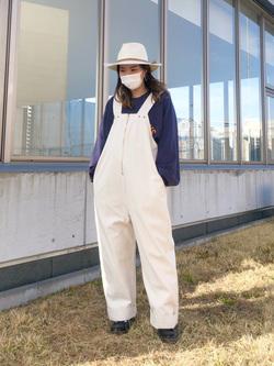 西宮ガーデンズ店のMisakiさんのLeeのラグラン プリントスウェット/トレーナーを使ったコーディネート