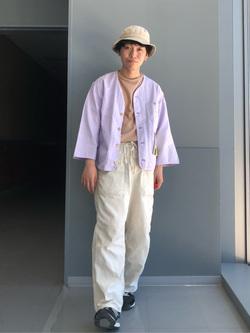 Lee アミュプラザ博多店のTaigaさんのLeeの【SALE】ノーカラージャケット/カーディガンを使ったコーディネート