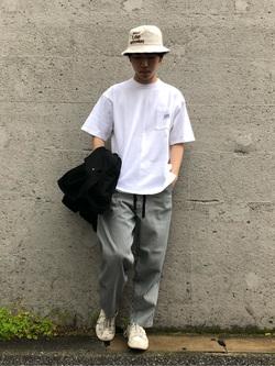 Lee アミュプラザ博多店のTaigaさんのLeeのポケット付き 半袖Tシャツを使ったコーディネート