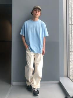 Lee アミュプラザ博多店のTaigaさんのLeeの【ユニセックス】DUNGAREES ペインターパンツを使ったコーディネート