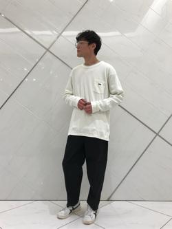 熊本COCOSA店のhironoriさんのLeeの【オーガニックコットン素材】ワッフル ベーシック長袖Tシャツを使ったコーディネート