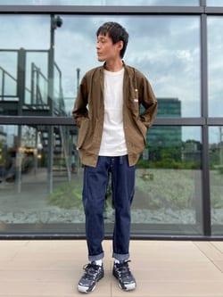 アミュプラザ熊本店のhironoriさんのLeeのビッグポケット シャツジャケットを使ったコーディネート