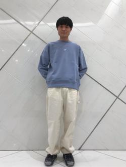 熊本COCOSA店のhironoriさんのLeeのワンポイントロゴ刺繍スウェット/トレーナー【ユニセックス】を使ったコーディネート