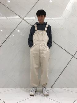 熊本COCOSA店のhironoriさんのLeeのルーズフィット パーカーを使ったコーディネート