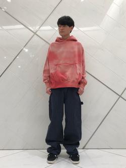 熊本COCOSA店のhironoriさんのLeeの【トップス15%OFFクーポン対象】【USED WASH】スウェットパーカーを使ったコーディネート