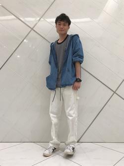 熊本COCOSA店のhironoriさんのLeeの【ユニセックス】DUNGAREES ペインターパンツを使ったコーディネート