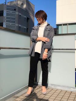 DENIM GALAXY日暮里店のNatsumiさんのEDWINの【試着対象】EDWIN LADIES ジャージーズ テーパード【スタンダードモデル】を使ったコーディネート