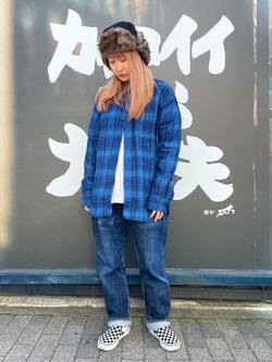MINAMIHORIE店のもりおさんのEDWINの【コンセプトショップ限定】INDIGO GARMENTS CHECK FLANNEL SHIRTSを使ったコーディネート