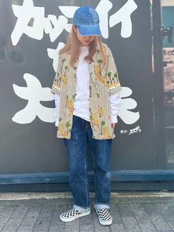 MINAMIHORIE店のもりおさんのEDWINの【コンセプトショップ限定】EDWIN x reyn spooner VINTAGE RAYON SHIRTSを使ったコーディネート