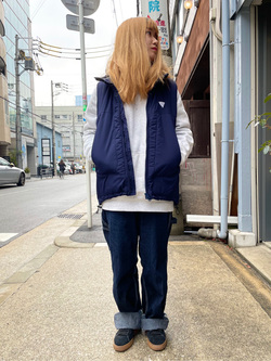 MINAMIHORIE店のもりおさんのEDWINの【Winter sale】【コンセプトショップ限定】F.L.E NAVY PACK  LEVEL7 VESTを使ったコーディネート