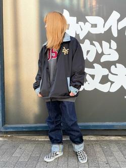 MINAMIHORIE店のもりおさんのEDWINの【Winter sale】【コンセプトショップ限定】EDWIN×ZOO YORK COACH JACKETを使ったコーディネート