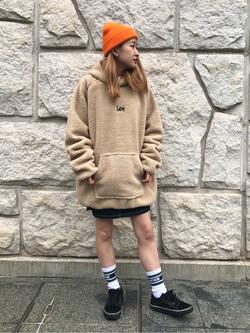 堀江店のもりおさんのLeeのキッズ ジャンパースカート【130cm-160cm】を使ったコーディネート