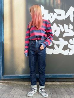 MINAMIHORIE店のもりおさんのEDWINの【コンセプトショップ限定】EDWIN EUROPE BORDER TEEを使ったコーディネート