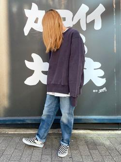 MINAMIHORIE店のもりおさんのEDWINの【コンセプトショップ限定】CREW NECK SWEAT SHIRTSを使ったコーディネート