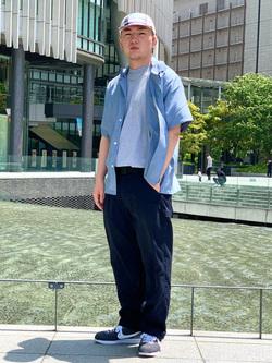 LINKS UMEDA店の中川 数斗さんのEDWINのオープンカラー 半袖シャツを使ったコーディネート