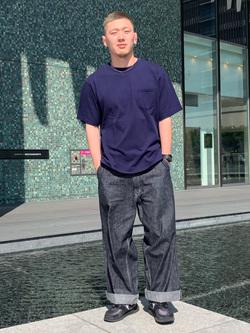LINKS UMEDA店の数斗さんのEDWINの【直営店限定】【親子コーデができる】クルーネックポケットTシャツ 半袖 【110-180cm】を使ったコーディネート