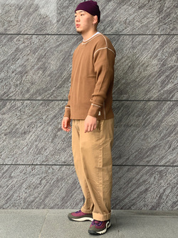 LINKS UMEDA店の数斗さんのEDWINのワッフル ロングスリーブTシャツを使ったコーディネート