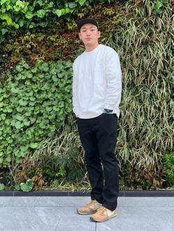 LINKS UMEDA店の数斗さんのEDWINの【直営店限定】ハタラクロ ストレート メンズを使ったコーディネート