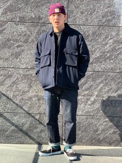 LINKS UMEDA店の数斗さんのEDWINの【再値下げ Winter sale】ヘリンボーン CPO ジャケットを使ったコーディネート