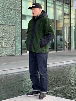 LINKS UMEDA店の数斗さんのEDWINの【再値下げ Winter sale】F.L.E ボア フリースジャケットを使ったコーディネート