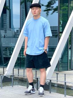 LINKS UMEDA店の中川 数斗さんのEDWINのアスレチック ショートパンツ(ストレッチコール)を使ったコーディネート