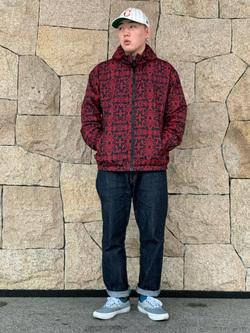 LINKS UMEDA店の数斗さんのEDWINの【Winter sale】【コンセプトショップ限定】EDWIN×ZOO YORK PRINT JACKETを使ったコーディネート