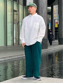 LINKS UMEDA店の中川 数斗さんのEDWINの【通販限定】YELLOW TAB HAKAMAを使ったコーディネート