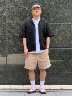 LINKS UMEDA店の中川 数斗さんのEDWINの歩クール イージー8ポケット 半袖シャツを使ったコーディネート