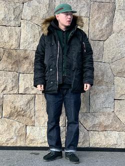 LINKS UMEDA店の中川 数斗さんのEDWINの【コンセプトショップ限定】REGULER STRAIGHT ボタンフライ 【レングス82cm】を使ったコーディネート